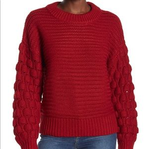 Elodie Bubble Sleeve Pullover Sweater